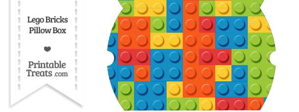 Large Lego Bricks Pillow Box