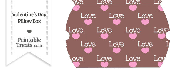 Large Love Pillow Box
