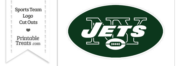 Large New York Jets Logo Cut Out