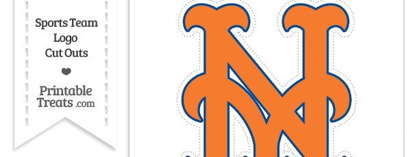 large new york mets logo cut out printable treats com