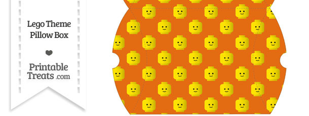 Large Orange Lego Theme Pillow Box
