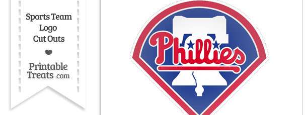 Large Philadelphia Phillies Logo Cut Out Printable