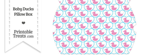 Large Pink Baby Ducks Pillow Box