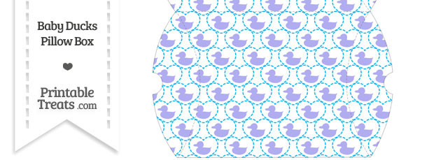 Large Purple Baby Ducks Pillow Box