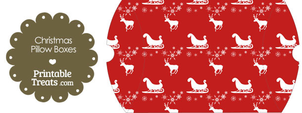 Large Santas Sleigh Pillow Box