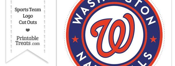 Large Washington Nationals Logo Cut Out