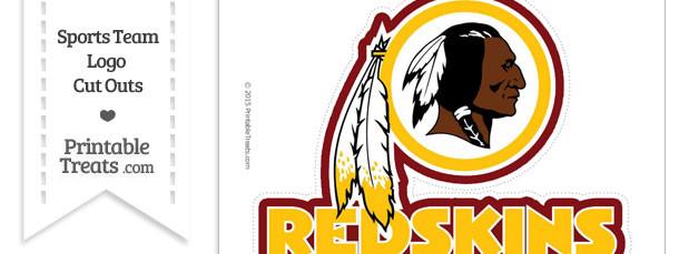 Large Washington Redskins Logo Cut Out