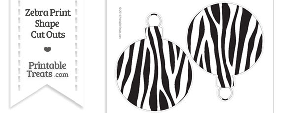 Large Zebra Print Christmas Ornament Cut Outs