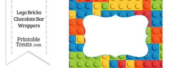 Lego Bricks Chocolate Bar Wrappers — Printable Treats.com