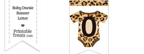Leopard Print Baby Onesie Bunting Banner Number 0