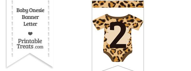 Leopard Print Baby Onesie Bunting Banner Number 2