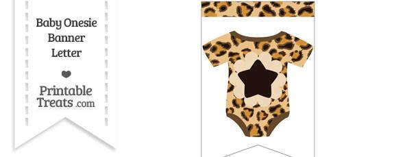 Leopard Print Baby Onesie Bunting Banner Star End Flag