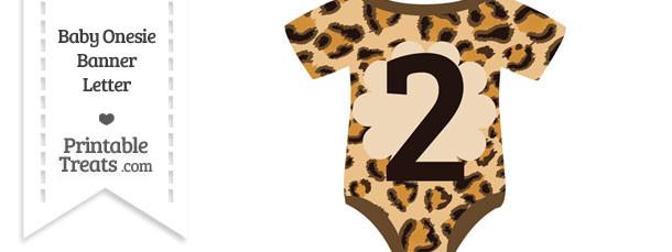 Leopard Print Baby Onesie Shaped Banner Number 2