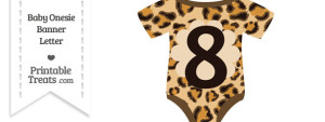 Leopard Print Baby Onesie Shaped Banner Number 8