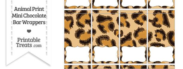 Leopard Print Mini Chocolate Bar Wrappers