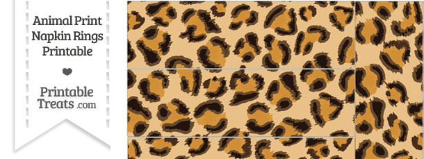 Leopard Print Napkin Rings