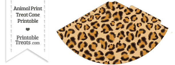 Leopard Print Party Cone