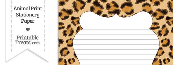 Leopard Print Stationery Paper