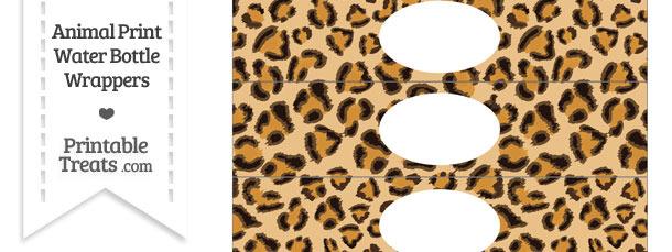 Leopard Print Water Bottle Wrappers