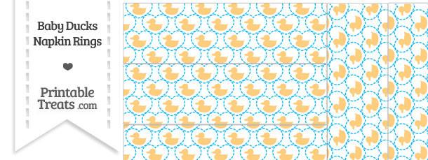 Light Orange Baby Ducks Napkin Rings