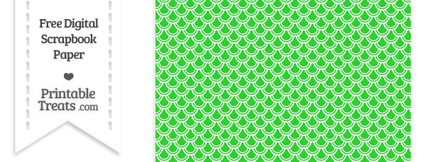 Lime Green Fish Scale Digital Paper Printable Treats