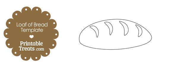 loaf of bread shape template  u2014 printable treats com