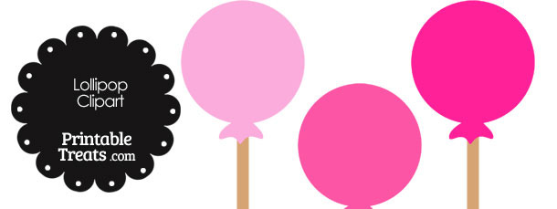 Lollipop Clipart in Shades of Pink
