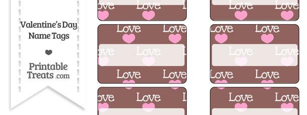 Love Name Tags