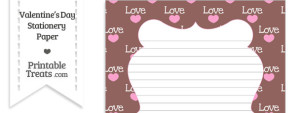 Love Stationery Paper