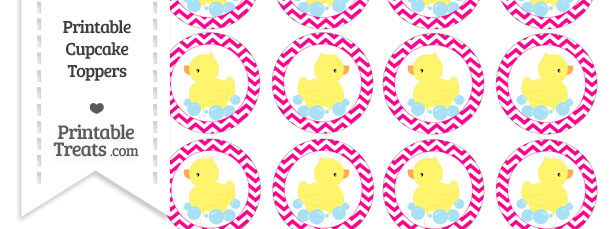 hello kitty cupcake topper template - free magenta chevron pattern duck theme cupcake toppers