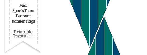 Mariners Colors Mini Pennant Banner Flags