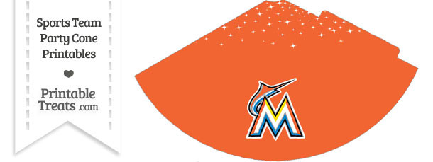 Marlins Party Cone Printable