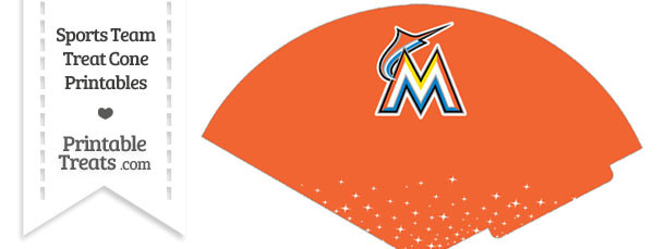 Marlins Treat Cone Printable