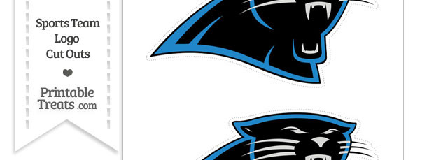 Medium Carolina Panthers Logo Cut Outs