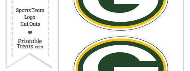 Medium Green Bay Packers Logo Cut Outs