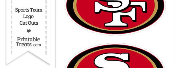 medium san francisco 49ers logo cut outs printable treats com rh printabletreats com
