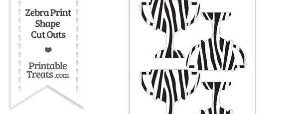 Medium Sized Zebra Print Trophy Cut Outs