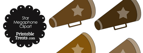 Megaphone Clipart in Shades of Brown