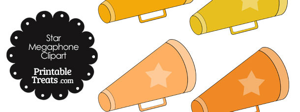 Megaphone Clipart in Shades of Orange