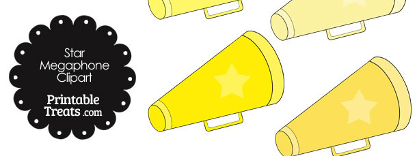 Megaphone Clipart in Shades of Yellow
