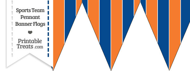 Mets Colors Pennant Banner Flag
