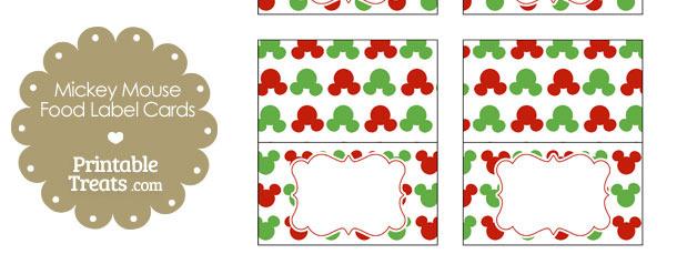 mickey mouse christmas food labels printable treats com