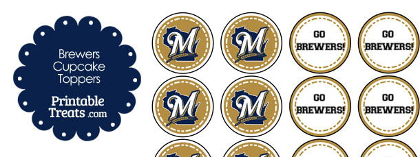 graphic regarding Brewers Printable Schedule known as Milwaukee Brewers Cupcake Toppers Printable