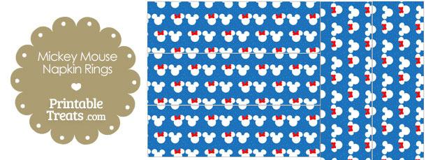 Minnie and Mickey Snow Theme Napkin Rings