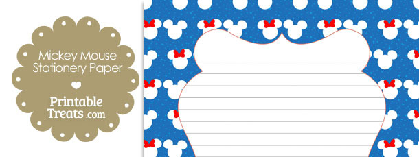 Minnie and Mickey Snow Theme Stationery Paper