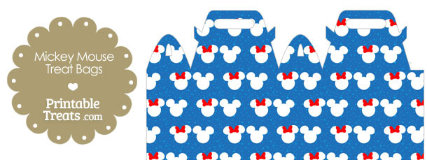 Minnie and Mickey Snow Theme Treat Bag