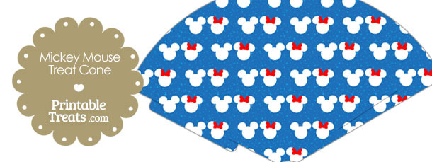 Minnie and Mickey Snow Theme Treat Cone