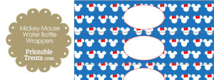 Minnie and Mickey Snow Theme Water Bottle Wrappers