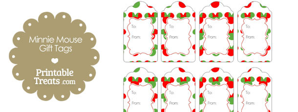 Minnie Mouse Christmas Gift Tags