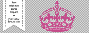free-mulberry-purple-keep-calm-crown-clipart